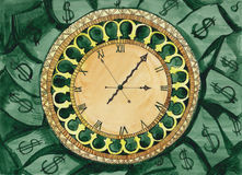 El tiempo es oro stock de ilustración