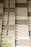 ¡El tiempo es oro!!! Imágenes de archivo libres de regalías