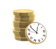 El tiempo es oro ilustración del vector