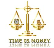 El tiempo es oro concepto Imagen de archivo