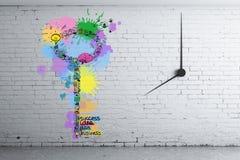 El tiempo es oro concepto Imagenes de archivo