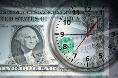 El tiempo es oro concepto ilustración del vector