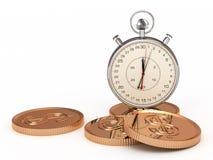 El tiempo es oro. Concepto de asunto Imágenes de archivo libres de regalías