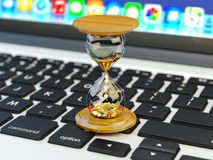 El tiempo es oro, haga el negocio de la gestión del dinero y de tiempo y el concepto de la tecnología Imagen de archivo