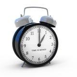 El tiempo es oro reloj de alarma Foto de archivo
