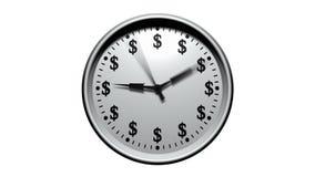 El tiempo es oro - reloj del dólar stock de ilustración