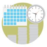 El tiempo es oro vector plano del icono Foto de archivo