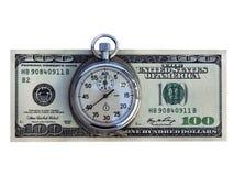 ¡El tiempo es siempre dinero! Imágenes de archivo libres de regalías