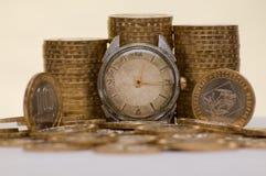 El tiempo es un dinero Fotos de archivo