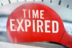 El tiempo expiró Fotografía de archivo