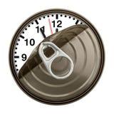 El tiempo puede Foto de archivo libre de regalías