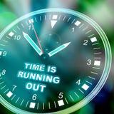 El tiempo se está ejecutando hacia fuera Fotografía de archivo