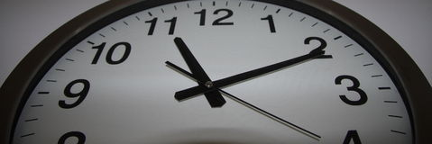 El tiempo se está ejecutando hacia fuera Imágenes de archivo libres de regalías