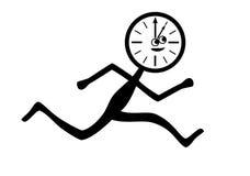 El tiempo vuela ilustración del vector