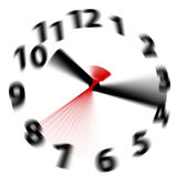 El tiempo vuela el reloj rápido de las manos de la falta de definición de la velocidad Fotografía de archivo libre de regalías