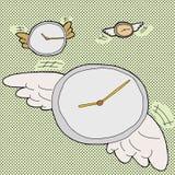 El tiempo vuela los relojes Foto de archivo libre de regalías