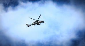 El tigre de la fuerza aérea de Eurocopter EC665 del helicóptero vuela sobre el Frenc Fotografía de archivo libre de regalías