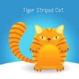 El tigre lindo raya el gato ilustración del vector