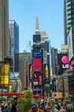 El Times Square de Nueva York Imágenes de archivo libres de regalías
