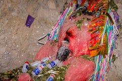 EL Tio in den Bergwerken von Potosi, Bolivien lizenzfreie stockfotos