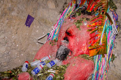 El Tio i minerna av Potosi, Bolivia royaltyfria foton