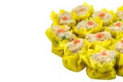 El tipo chino del aperitivo de DimSum de chino coció la cara de la bola de masa hervida al vapor i Imagen de archivo libre de regalías