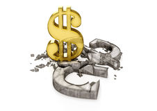 El tipo de cambio del hryvnia ucraniano es caída Foto de archivo