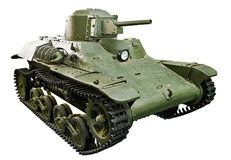 El tipo japonés 97 vehículo ligero blindado ligero Te-KE del tankette aisló blanco Foto de archivo