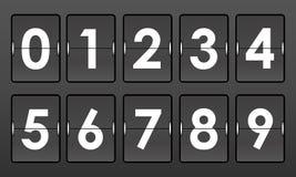 El tirón numera 0-9 en fondo gris Imagenes de archivo