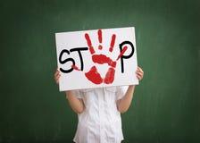 El tiranizar en la escuela es problema en escuelas de los today's imágenes de archivo libres de regalías