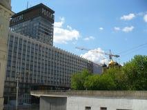 El tirar hacia abajo del hotel Rusia Imagenes de archivo