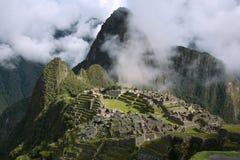 El tiro clásico de Machu Picchu Fotografía de archivo libre de regalías