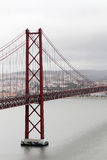 El 25to del puente de abril, Lisboa Imagen de archivo libre de regalías