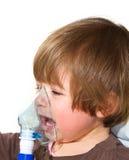 El tomar del niño respiratorio Fotografía de archivo libre de regalías