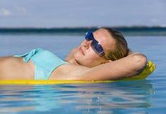 El tomar el sol el las vacaciones - Tahití Fotografía de archivo libre de regalías