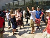 El tomar sobre el eclipse solar parcial Fotos de archivo libres de regalías