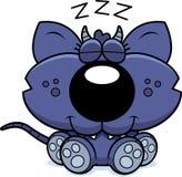 El tomar una siesta del Chupacabra de la historieta Imagen de archivo libre de regalías