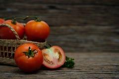 El tomate es concepto de la buena salud Imagenes de archivo