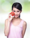 El tomate es grande para la salud fotografía de archivo libre de regalías