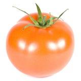 El tomate rojo se aísla en un fondo blanco Fotografía de archivo