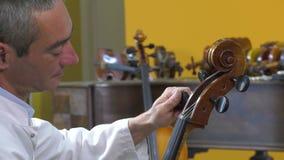 El tono más luthier son las cuatro secuencias del violoncelo almacen de video