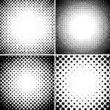 El tono medio abstracto punteó los fondos fijados Foto de archivo libre de regalías