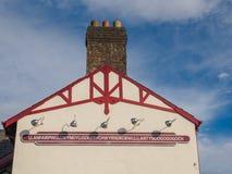 El topónimo más largo del Reino Unido Foto de archivo libre de regalías
