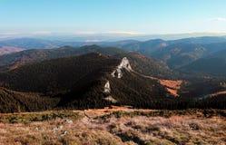 El top de la montaña fotografía de archivo libre de regalías
