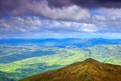 El top de la montaña Imagen de archivo libre de regalías