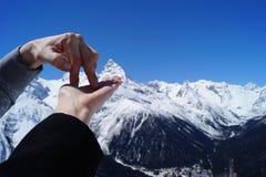 El top de la montaña Fotos de archivo libres de regalías