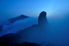 El top de la montaña de Fanjing Foto de archivo libre de regalías