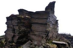 El top de la montaña de Fanjing Fotos de archivo libres de regalías