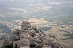 El top de la montaña Demerdzhi Imagen de archivo