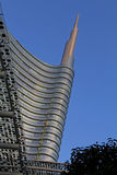 El top de la torre de Unicredit Imagen de archivo libre de regalías